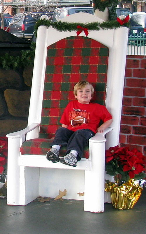 Mac in Santa's chair!