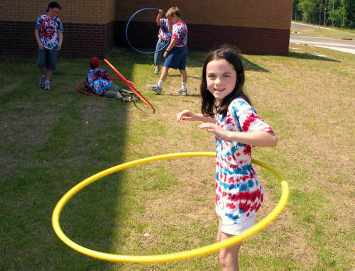 Hula Hoop Contest at Field Day
