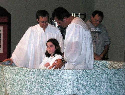 Sarah's Baptism 10/22/06